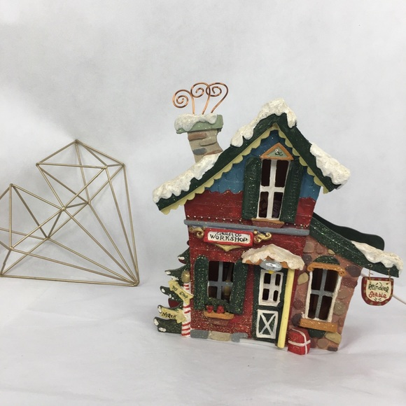 Kurt Adler Santa Claus & Co Workshop Lighted